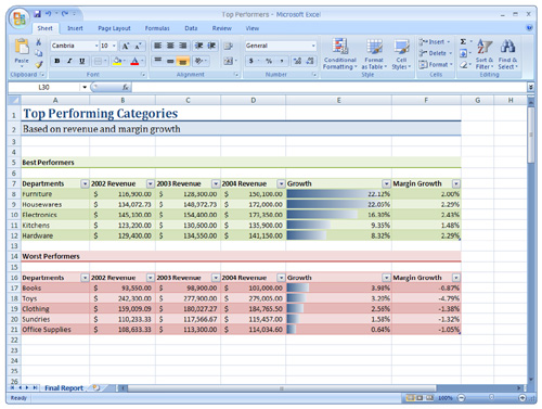 Excel - Скриншоты